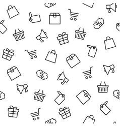 black friday icons set isolated white background vector image