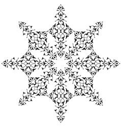 black oriental ottoman design thirty seven vector image