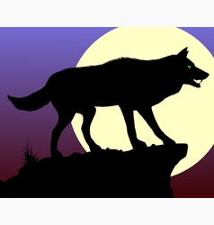 Black Wolf vector image