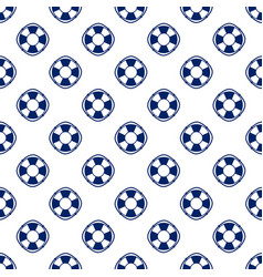 blue lifebuoy seamless pattern vector image