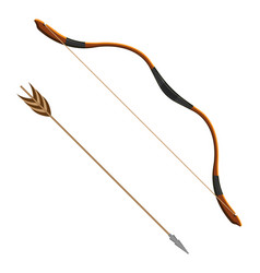 bow and arrow realistic of vector image