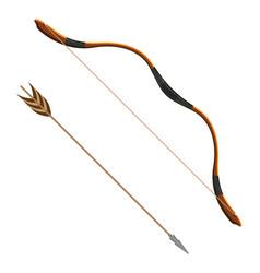 Bow and arrow realistic vector