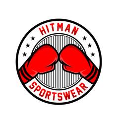 boxing emblem logo vector image