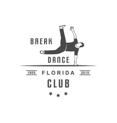 break dance logotype vector image