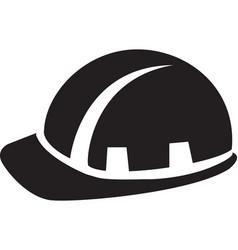 builder man hard hat black symbol vector image
