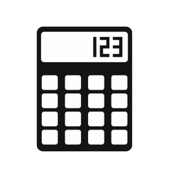 Calculator simple icon vector image