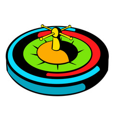 casino gambling roulette icon icon cartoon vector image