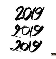 chinese calligraphy for 2019 new year of the pig vector image