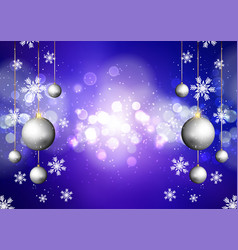christmas background with bokeh lights vector image