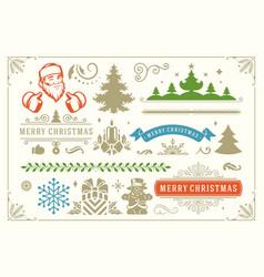 christmas decoration symbols ornate vector image