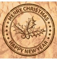 Christmas stamp vector image