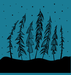 Christmas tree holidays vector