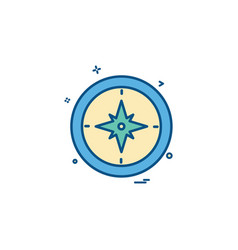 Compass north south east west icon design vector