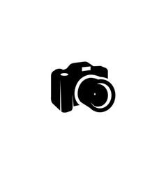 creative black camera logo design symbol vector image