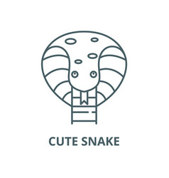 cute snake line icon linear concept vector image