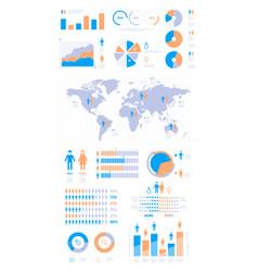 demographic infographic people population vector image