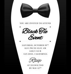 Elegant black tie event invitation vector