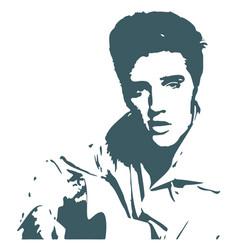 Elvis presley silhouette vector