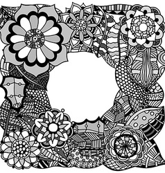 Ethnic floral entangle vector