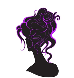 Girl with a high hairdo vector