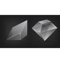 glass shapes vector image vector image