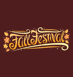 Greeting card for fall festival vector