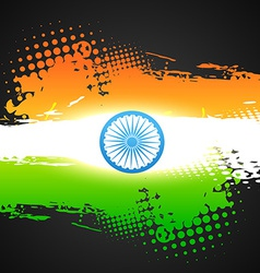 Grunge style indian flag vector