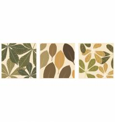 leaf patterns vector image