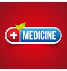 Medicine button vector image