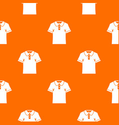 men polo shirt pattern seamless vector image