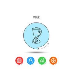 Mixer icon blender sign vector