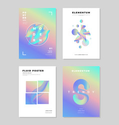 modern abstract poster cover design template vector image