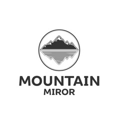 mountain and water mirror vector image