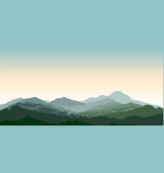 mountains landscape rural nature background hills vector image