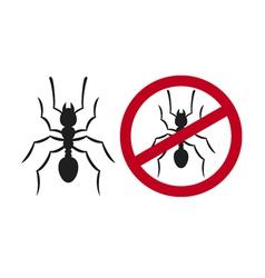 No ants sign - No ants symbol vector image