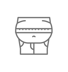 obesity belly fat line icon vector image