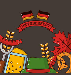 oktoberfest germany celebration vector image