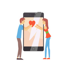 online dating service or mobile app concept vector image