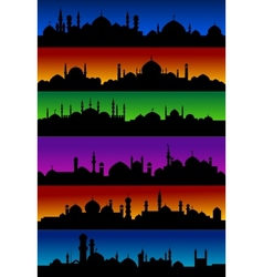 Oriental arabian city skylines with mosques vector image