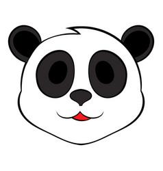 Panda bear head icon cartoon vector