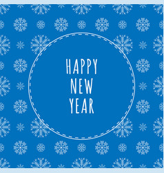 Pattern with snowflakes greeting card new year vector
