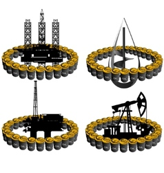 Petroleum business-4 vector image vector image