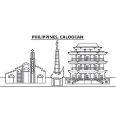 Philippines caloocan line skyline vector