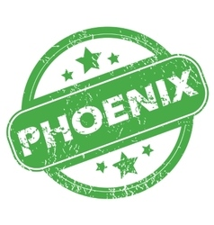 Phoenix green stamp vector