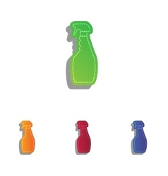 Plastic bottle for cleaning Colorfull applique vector image