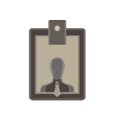 plastic identity tag name identification isolated vector image