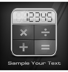 Pocket calculator on black vector