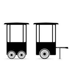 Popcorn trolley vector
