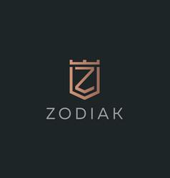 premium monogram letter z initials logotype vector image