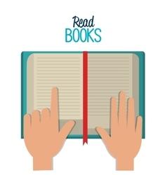 Read books design vector